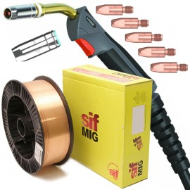 Parker MB25 Duragrip™ 250A Mig Torch with Nozzle, Tips and 5KG Wire