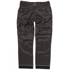 Apache Twill Workwear Trouser Black / Grey with FREE KNEE PADS