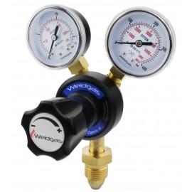 Weldgas Single Stage 2 Gauge Oxygen & Acetylene Regulator Twin Pack