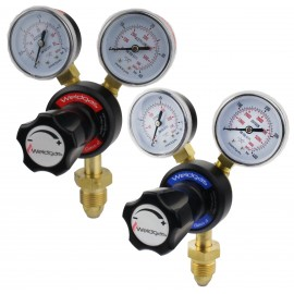 Weldgas Single Stage 2 Gauge Oxygen & Acetylene Regulator Twin Pack